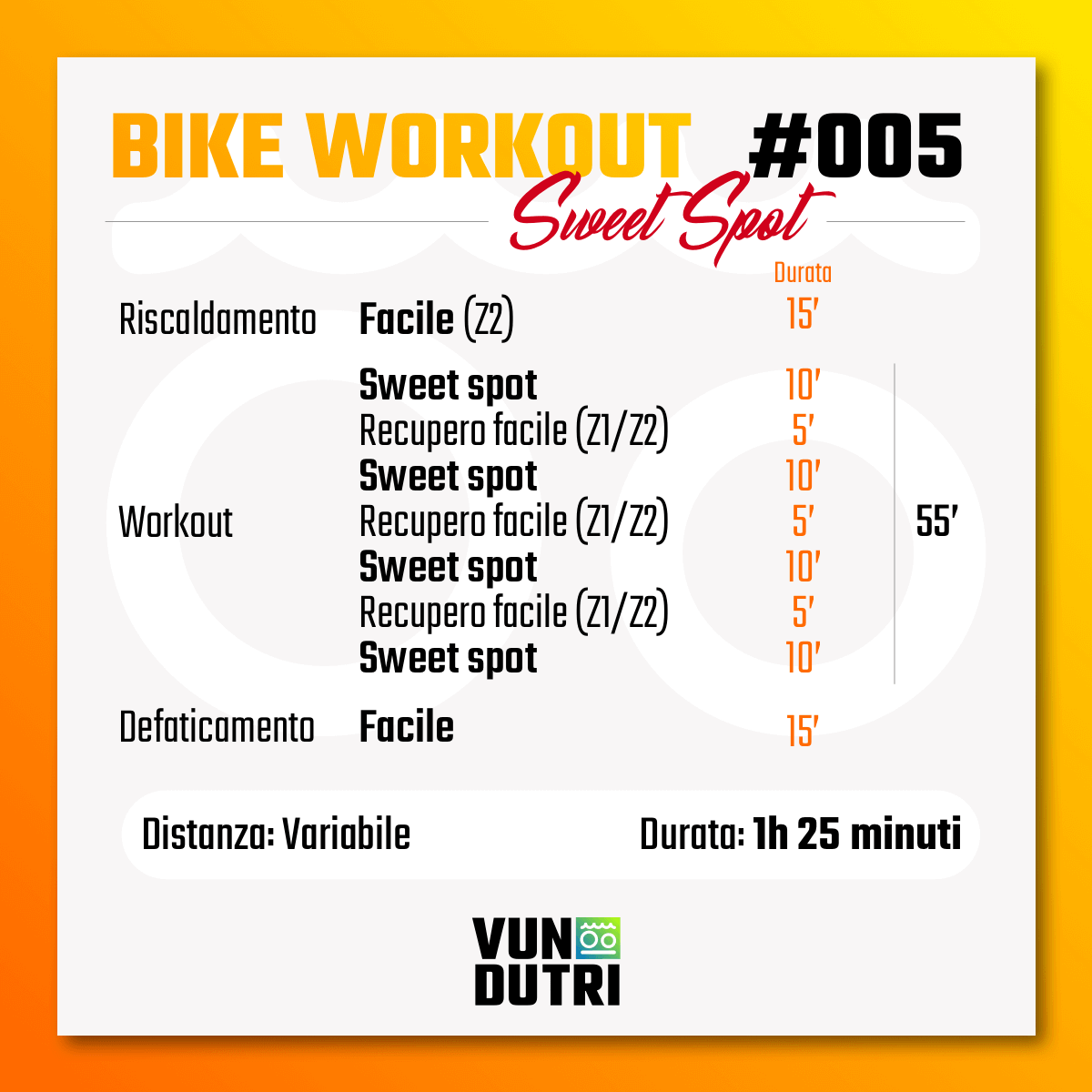 Bike Workout 005 -  Sweet Spot liv. 2