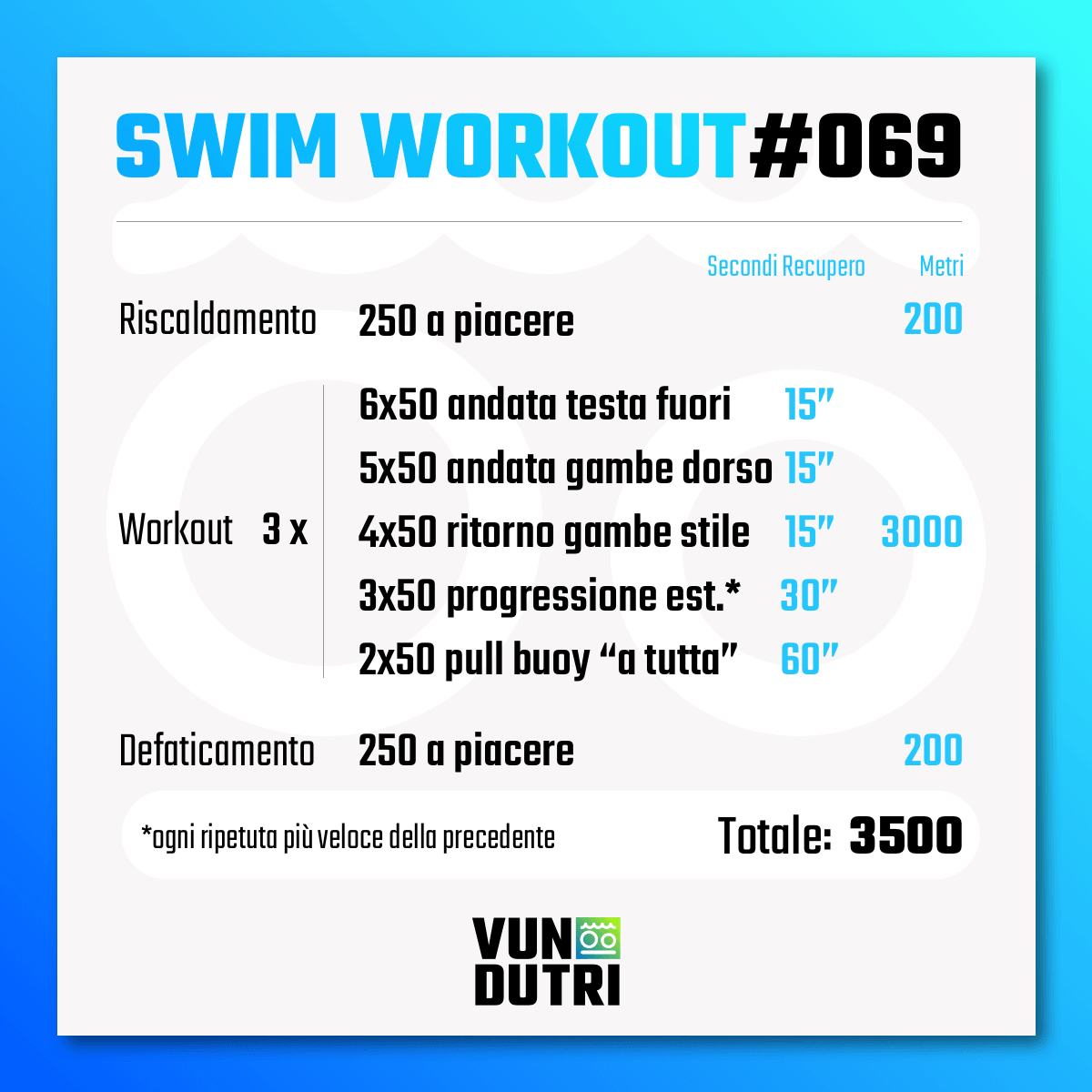Swim workout 069