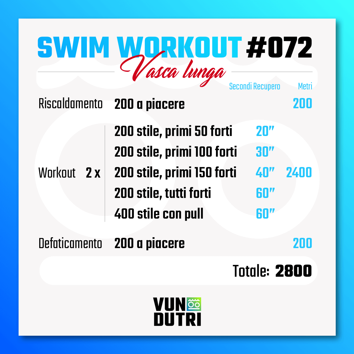 Swim workout 072