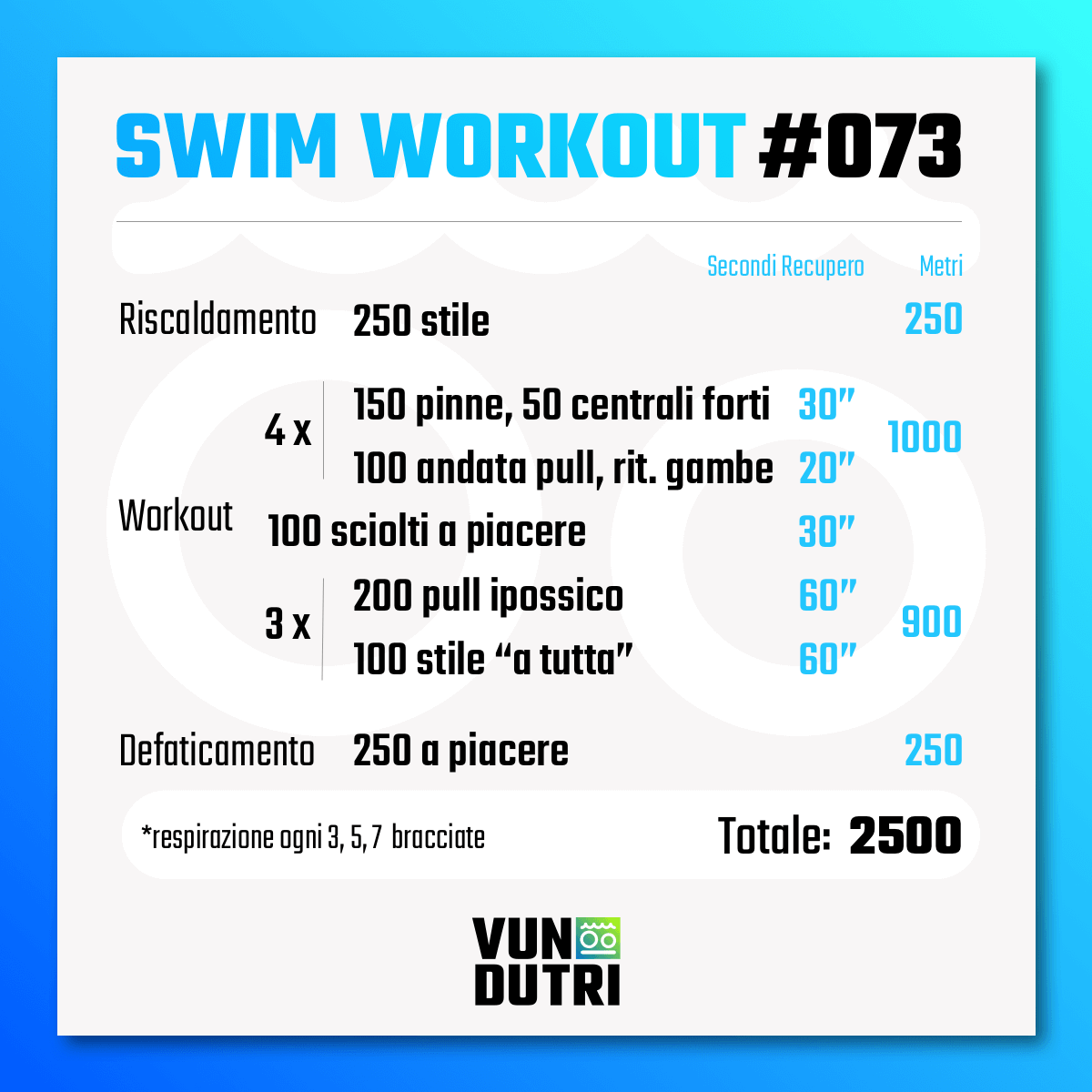 Swim workout 073