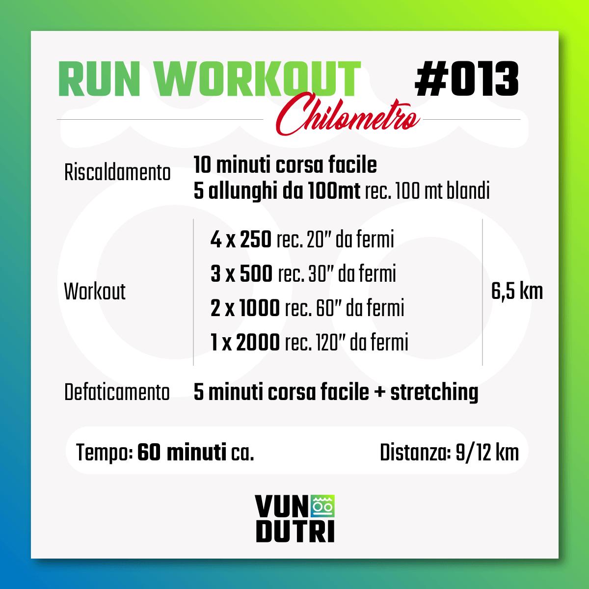 Run Workout 013 - Chilometro