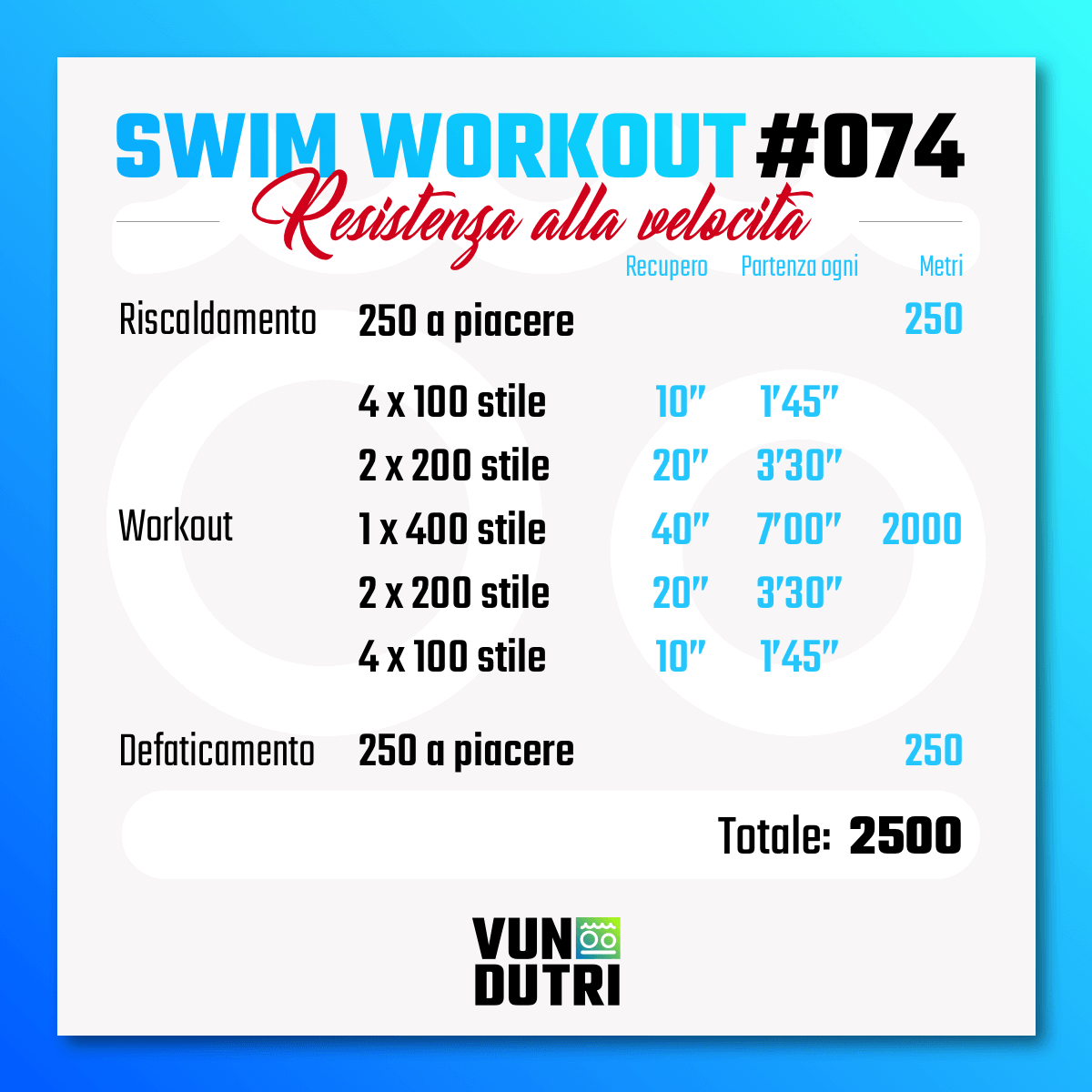 Swim workout 074