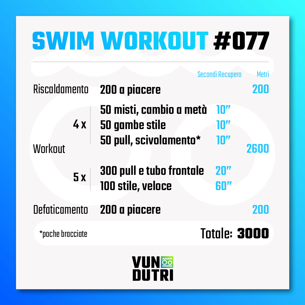 Swim workout 077